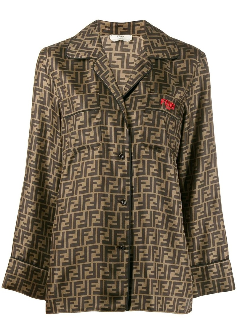 Fendi motif pattern shirt