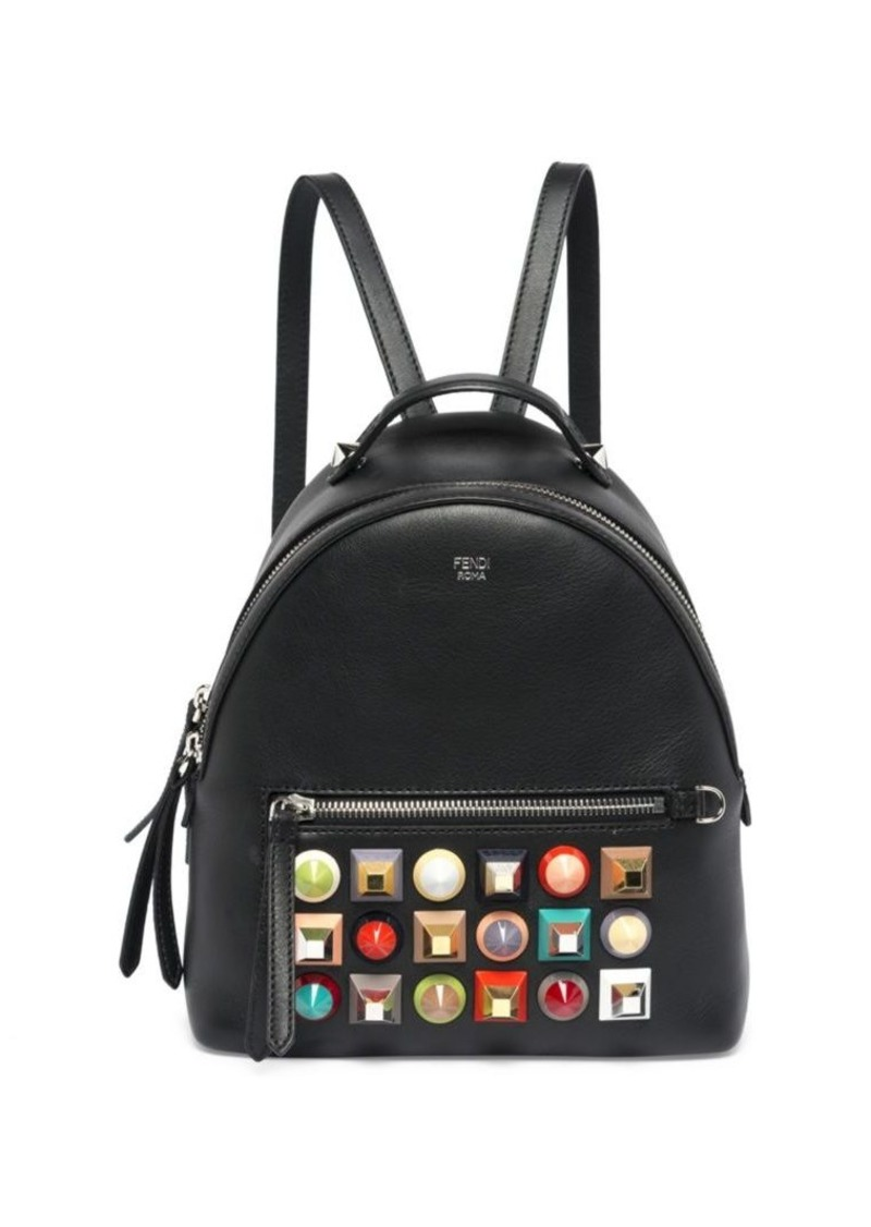 d2ba8d2a6574 Fendi Multicolor Studded Leather Mini Backpack