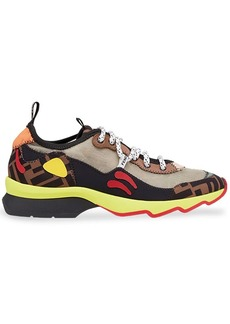 Fendi multicolour technical mesh sneakers