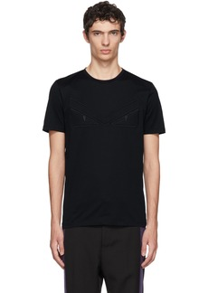 Fendi Navy 'Bag Bugs' Eyebrow T-Shirt