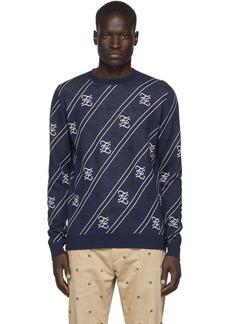 Navy 'Forever Fendi' Cursive Sweater