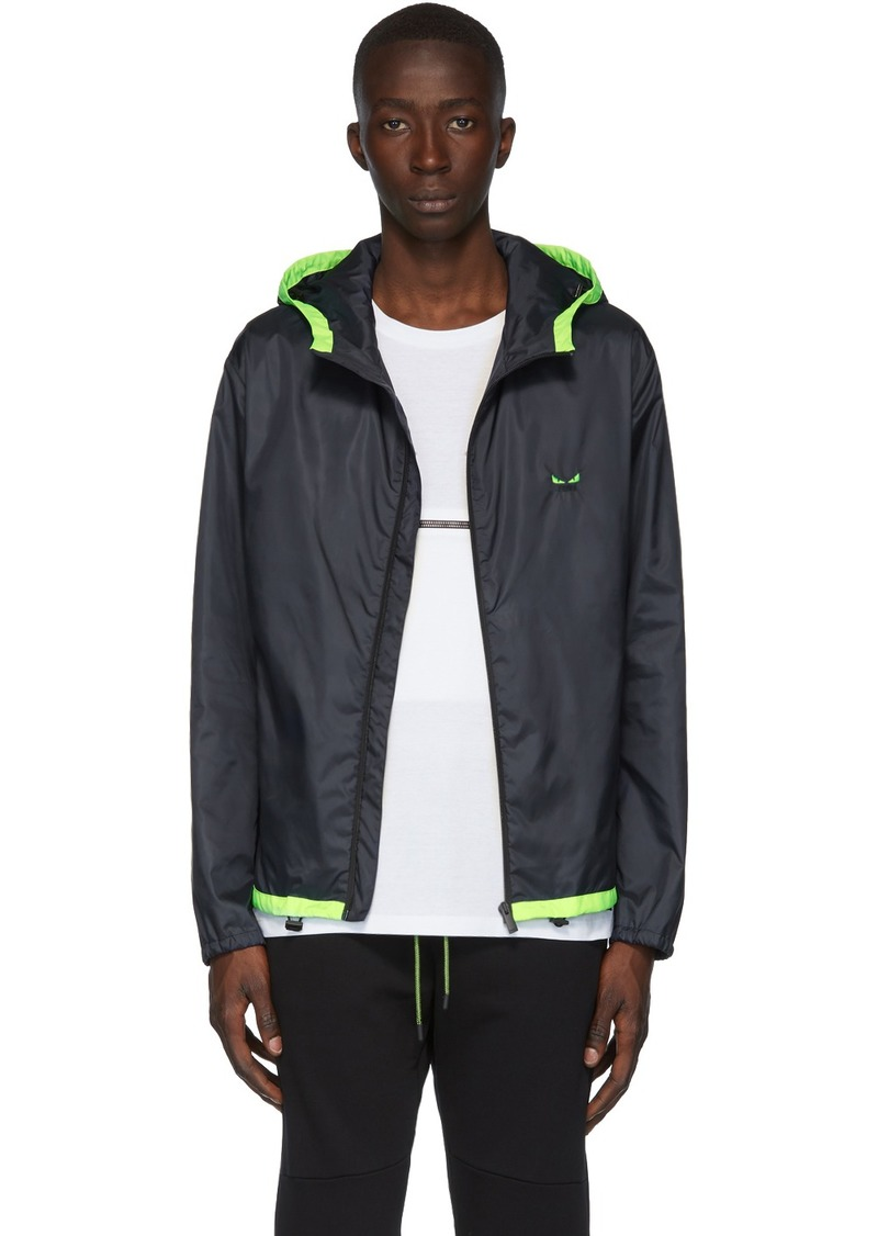 Fendi Navy Monster Eyes Track Jacket