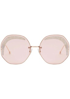 Fendi octagonal frame sunglasses