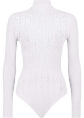 Fendi open-knit long-sleeve bodysuit