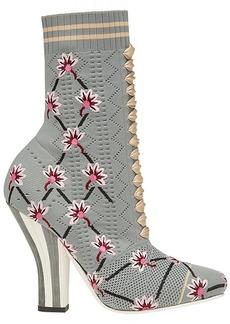 Fendi open knit sock boots