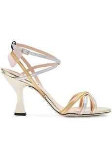 Fendi open toe strappy sandals