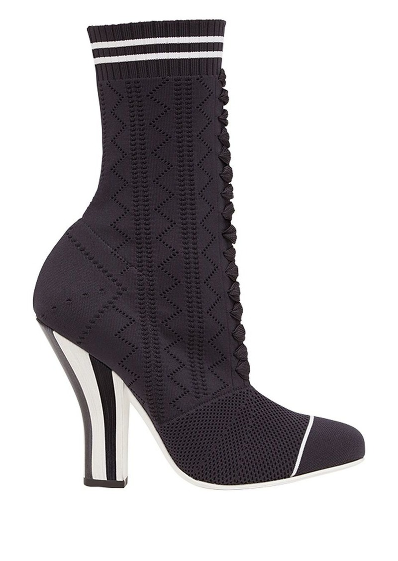 Fendi open work sock boots