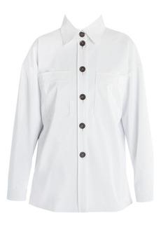 Fendi Oversize Shiny Button Front Jacket