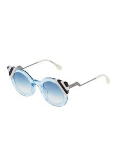 Fendi Oversized Cat Eye Acetate Sunglasses
