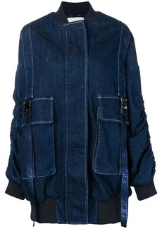 Fendi oversized denim bomber jacket