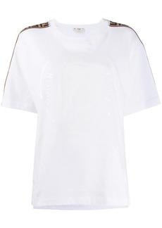 Fendi oversized logo tape T-shirt