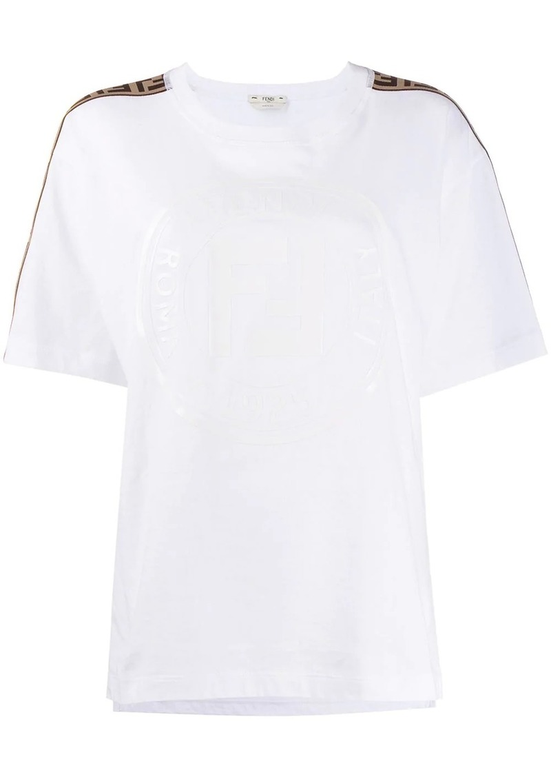 Fendi oversized logo tape T-shirt