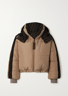 Fendi Oversized Reversible Quilted Printed Shell Down Jacket