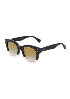 Fendi Oversized Round Acetate Sunglasses
