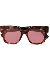 Fendi Oversized Square-frame Printed Tortoiseshell Acetate Sunglasses