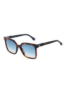 Fendi Oversized Square Tortoiseshell Acetate Sunglasses