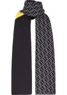 Fendi panelled FF print scarf