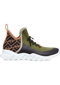 Fendi panelled FF print sneakers