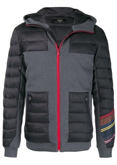 Fendi panelled hooded padded jacket