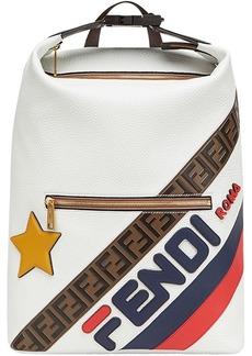 FendiMania panelled lettering logo backpack