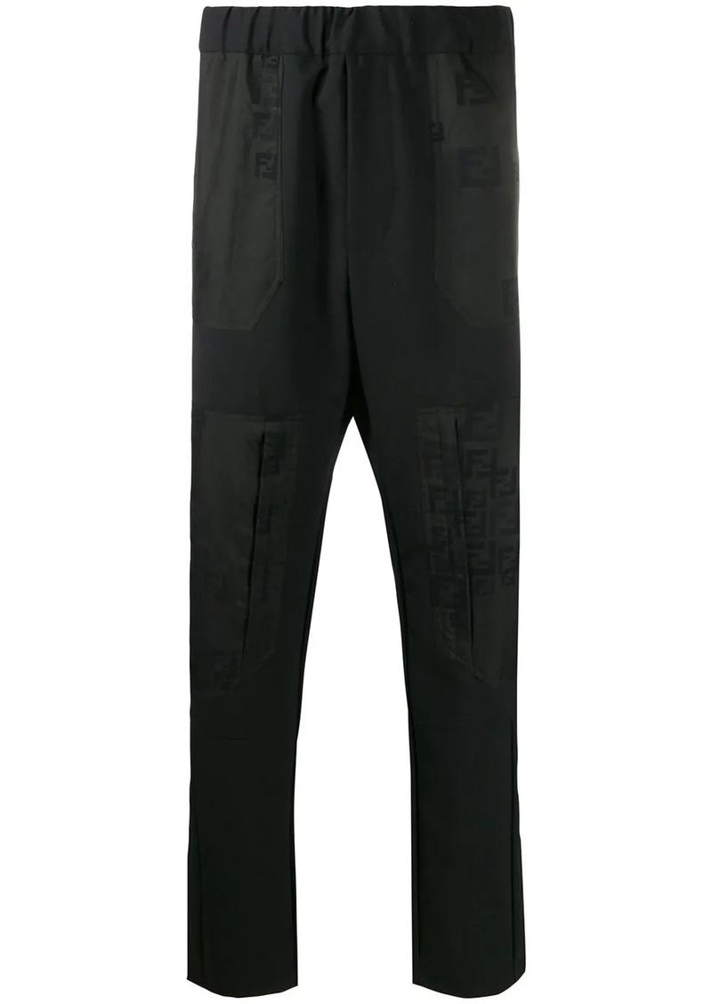 Fendi panelled straight leg trousers