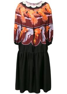 Fendi parrot print prairie dress