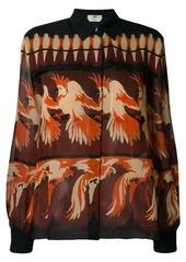 Fendi parrot print shirt