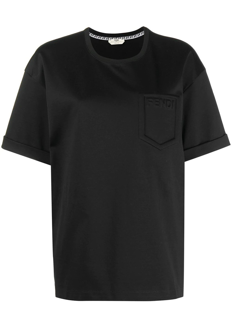 Fendi logo-detail patch-pocket T-shirt