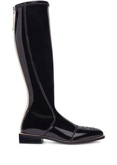 Fendi patent knee-high boots