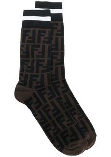 Fendi patterned logo socks