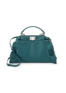 Fendi Peek-A-Boo Leather Top Handle Crossbody Bag