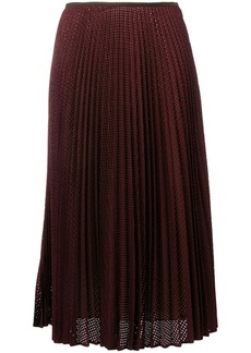 Fendi perforated pleated skirt