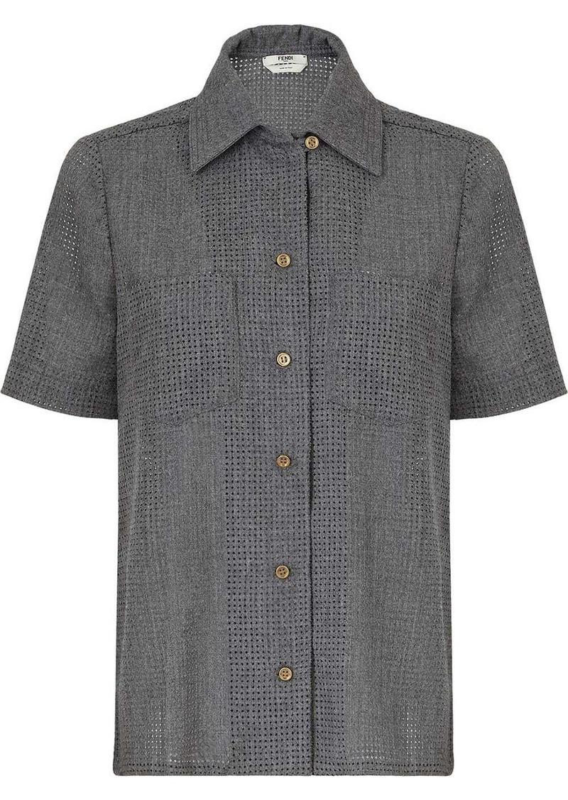 Fendi perforated short-sleeve shirt
