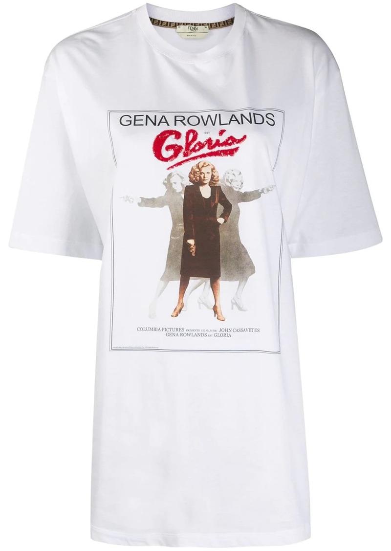 Fendi Gloria movie print T-shirt