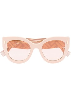 Fendi cat eye-frame FF-logo sunglasses