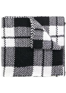 Fendi plaid logo scarf