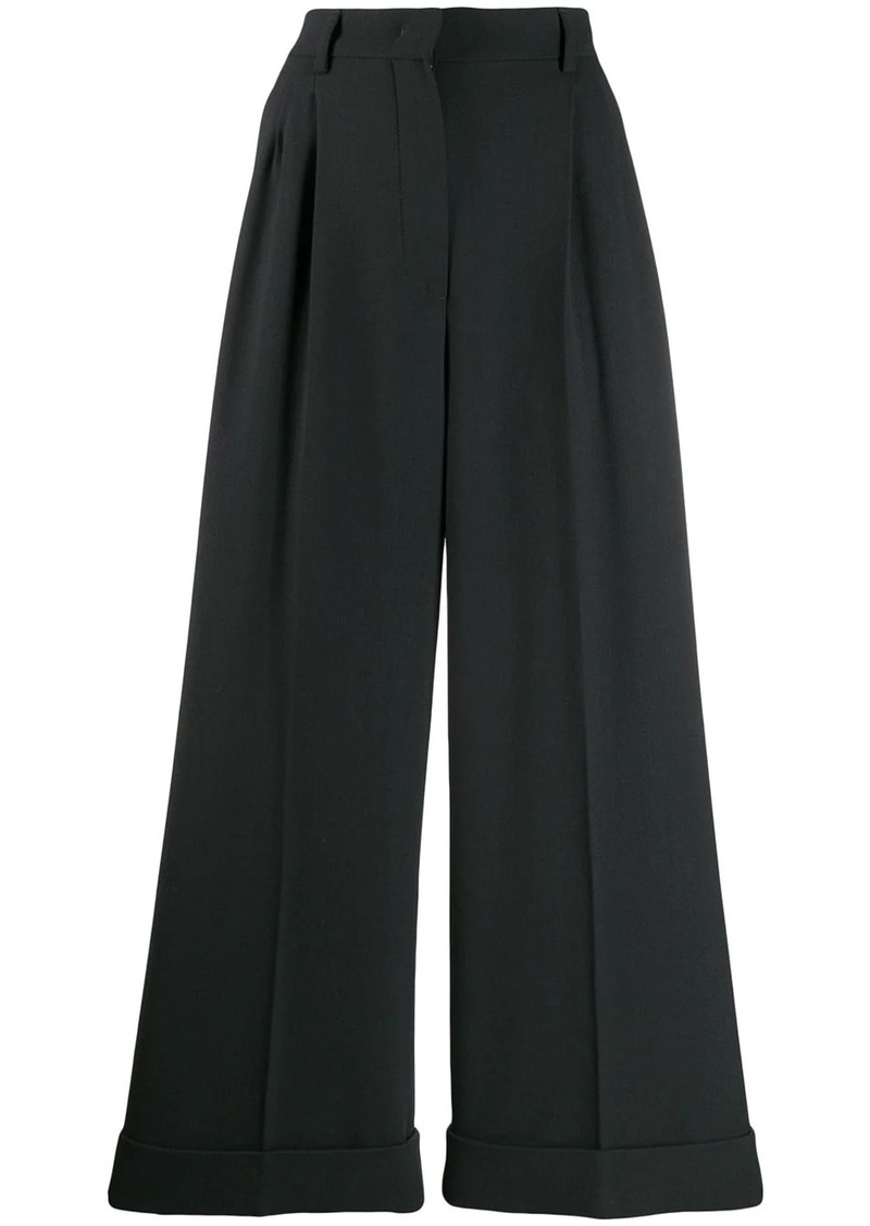 Fendi pleated flared trousers