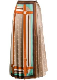 Fendi pleated wrap skirt
