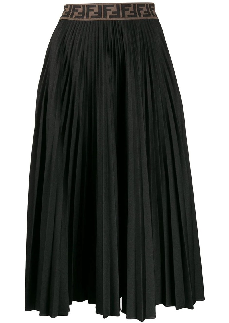 Fendi pleated Zucca skirt