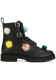 Fendi pom pom boots