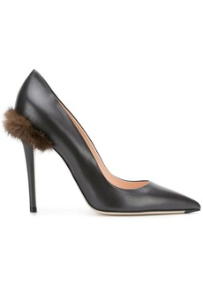 Fendi pompom pointed toe pumps