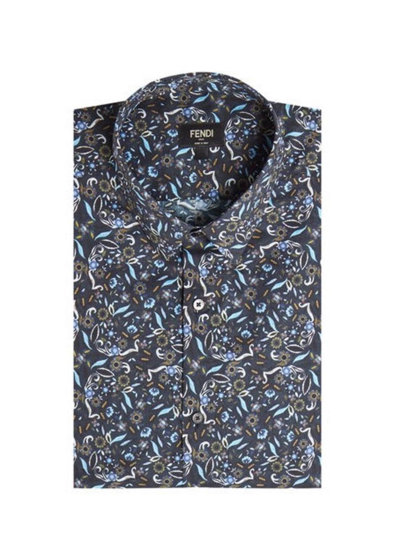 Fendi Printed Cotton Shirt