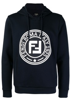 Fendi printed FF logo hoodie