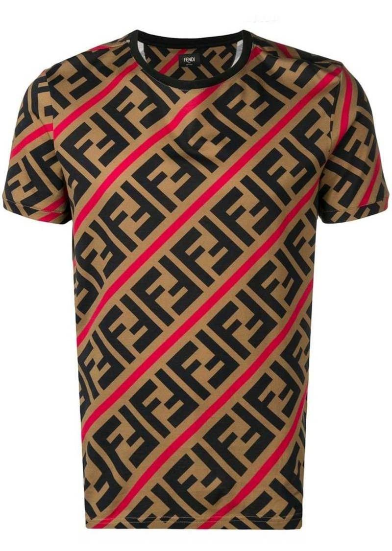 5fb72018 Fendi printed FF logo T-shirt | T Shirts