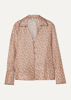Fendi Printed Silk-satin Blouse