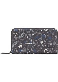 Fendi printed zip around wallet
