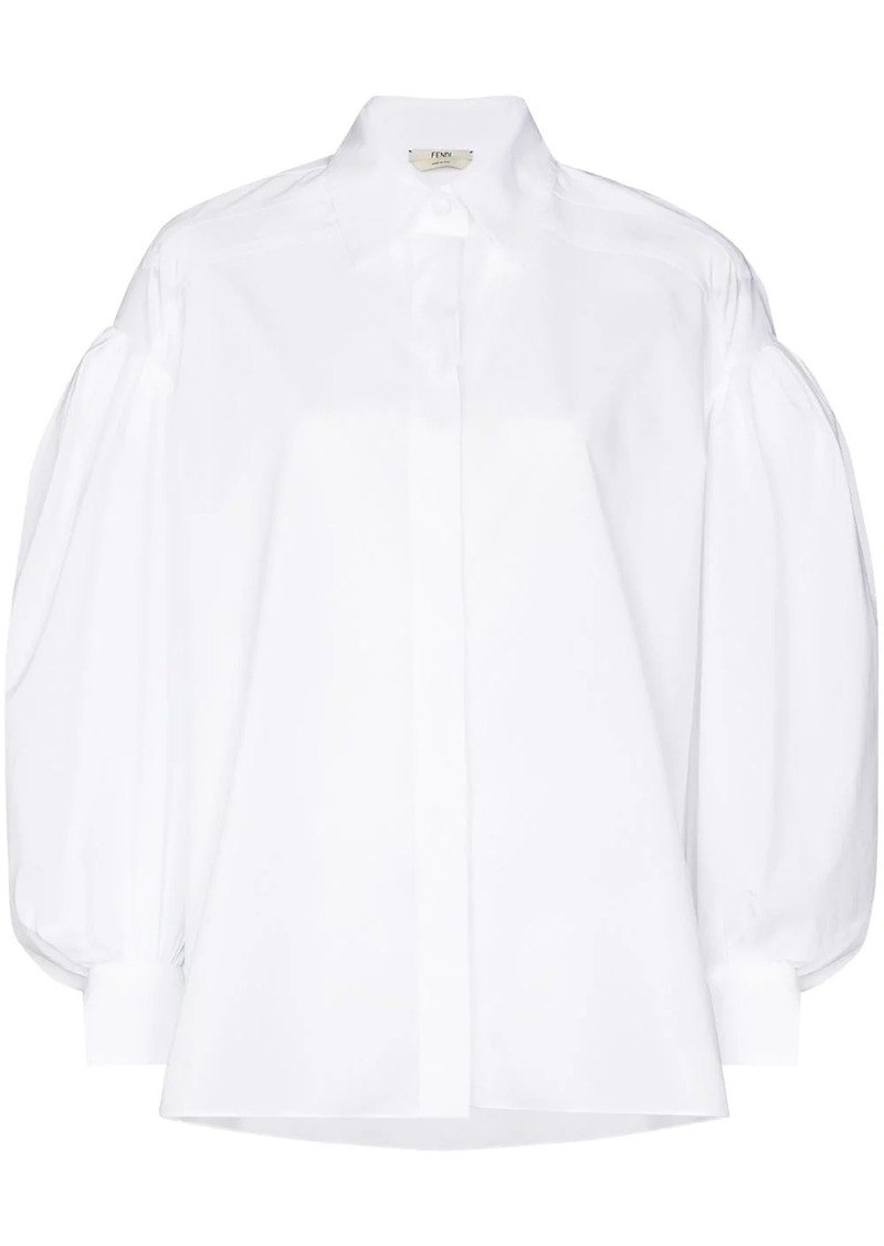 Fendi puff-sleeve cotton shirt