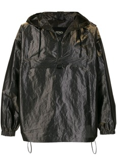 Fendi pull-out hood oversized wind breaker jacket