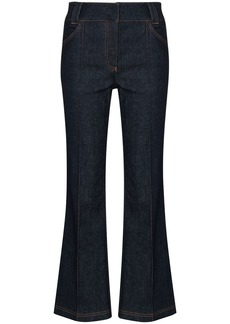 Fendi quilted-pocket flared jeans