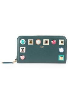 Fendi Rainbow Stud Leather Wallet